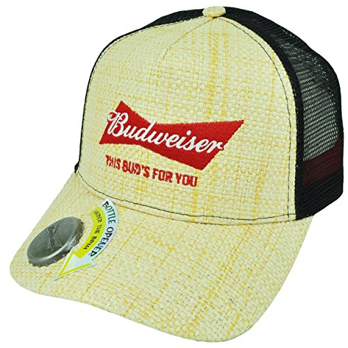 budweiser-mens-adjustable-straw-baseball-cap-with-bottle-opener-natural-one-size