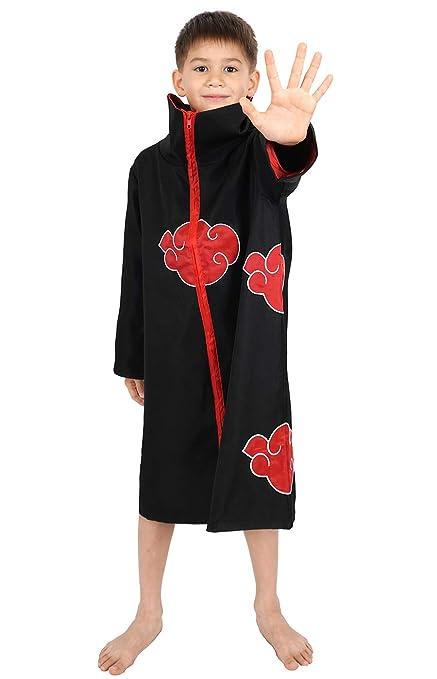 CoolChange Abrigo de Akatsuki para niños Disfraz Cosplay, tamaño: 130