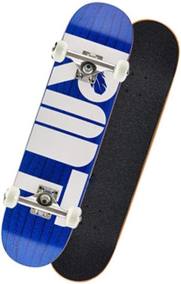 スケートボード スケートボードプロの子供たちスケートボードダブルワープアップ四輪スケートボード男の子と女の子ショートボード初心者スケートボードギフト (Color : 青, Size : 72*18.5*10cm) 青 72*18.5*10cm