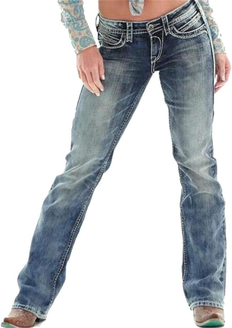 SHOWNO Mens Jeans Casual Plus Size Classic Washed Jeans Denim Pants