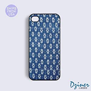 iPhone 6 Plus Tough Case - 5.5 inch model - Blue Floral Pattern iPhone Cover