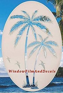 Amazoncom Egret  Cattails Left Oval Etched Window Decal Vinyl - Window alert hummingbird decals amazon