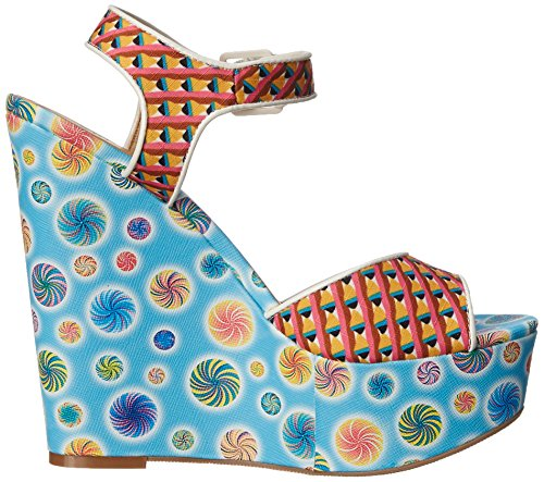 Sandal Jollypop Chinese Women Blue Multi Wedge Laundry PqSIxRE