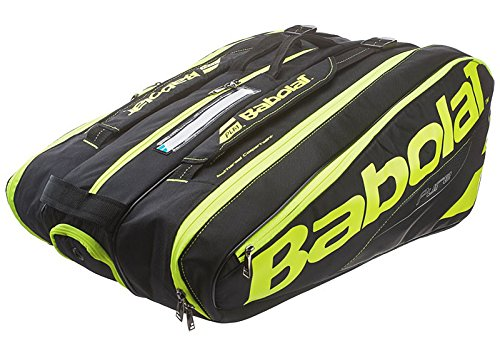 Babolat Pure Black/Fluo Yellow 12 Pack Bag