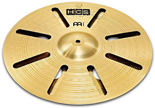 Meinl 12' Trash Stack Cymbal Pair with Holes - HCS Traditional Finish Brass for Drum Set, Made In Germany,  2-YEAR WARRANTY (HCS12TRS)