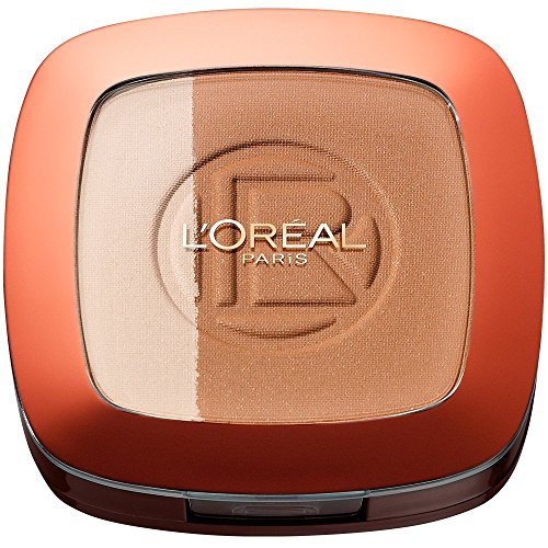 L'Oréal Paris Make Up Glam Bronze Duo Sun Powder, 101 Blonde Harmony - 2 in 1 Bronzepuder für den Sommer-gebräunten Look - für helle Hauttypen, 1er Pack (1 x 11g)