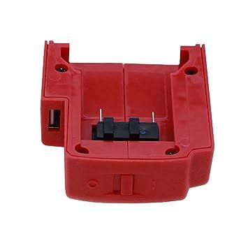 Tragbar USB-Ladegerät Adapter Batterie Charger Power Für Milwaukee 49-24-2371