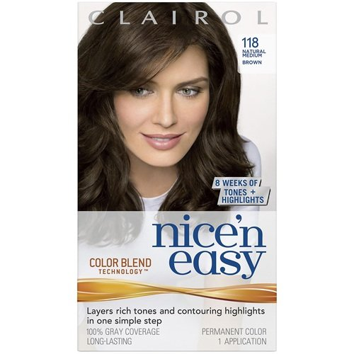 low-cost Clairol Nice \'n Easy Hair Color, Natural Medium Brown ...
