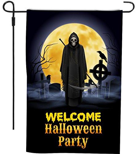 Happy Halloween Grim Reaper Welcome
