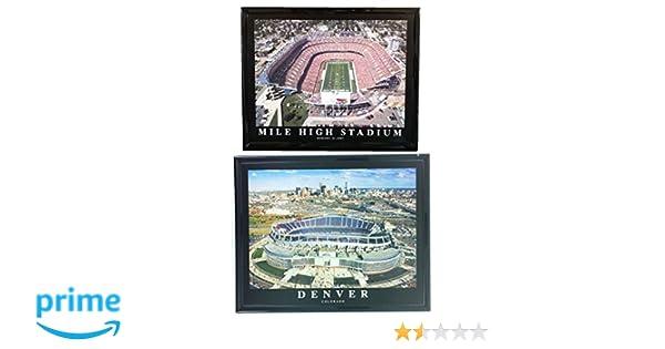 Amazon.com: Denver Broncos Framed Prints Mile High Stadium NEW and ...
