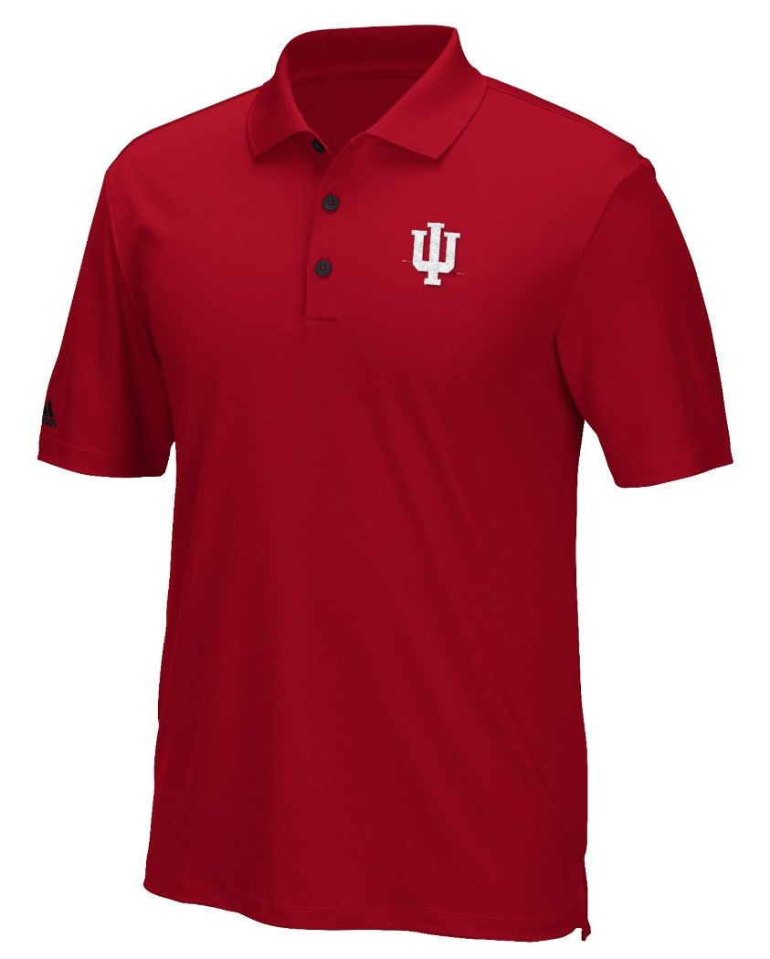 Indiana Hoosiers Adidas NCAAメンズ「パフォーマンス」Climacoolポロシャツ Large  B01ND3XQSH