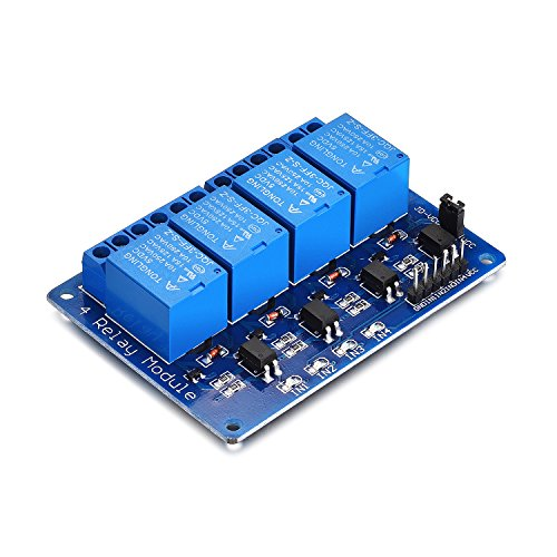 - Yizhet 5V 4 Channel-Relay DC 5V 230V Relay Shield Module Control Board with Optocoupler for Raspberry Pi Arduino PIC AVR MCU DSP ARM TTL Logic (4 Channel)
