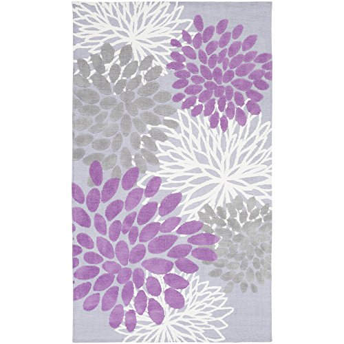 (Sanora Lavender and Gray Transitional Area Rug 5' x 8')