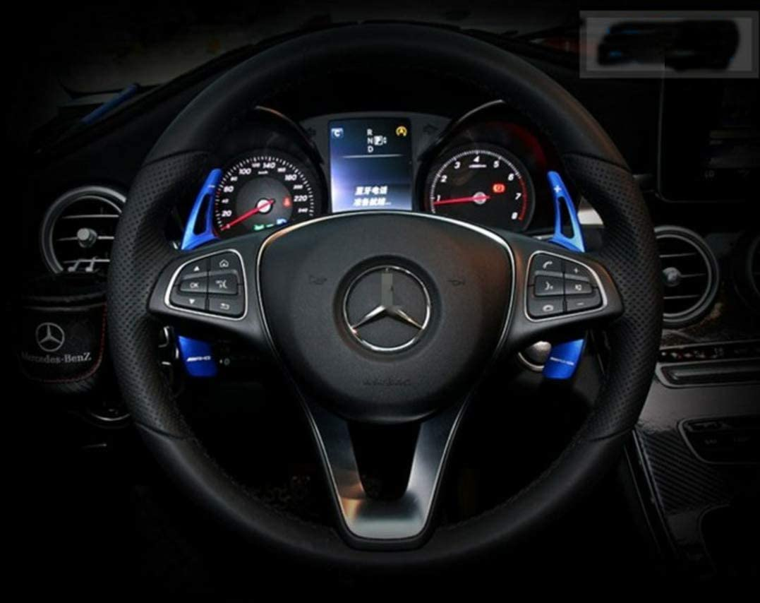 BLUE OP Steering wheel paddle shifter extensions for Mercedes Benz A B C S R V series GLA GLC GLE GLS CLS VITO