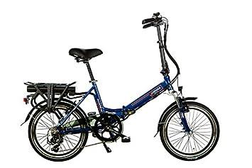 Eléctrico bicicleta plegable shinga Scamper – Azul – 20 pulgadas