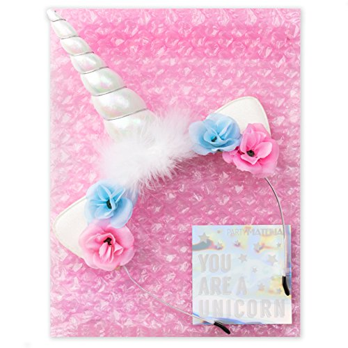 xo, Fetti Unicorn Horn Headband - Child + Adult | Halloween Costume, Birthday Party Decoration Girl ()