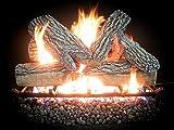 18-30 inch Dreffco Blazing Oak Gas Log Kit With Vented Gas Burner - On/Off Remote Start