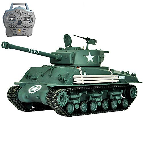 HOOBEN 1:16 U.S. Fury M4A3E8 Sherman Medium Tank RTR Assembled & Painted Ready to Run Inside with Hooben VCU with Metal Gearbox (can upgrate to VS,FPV,VR)[D6603F01]