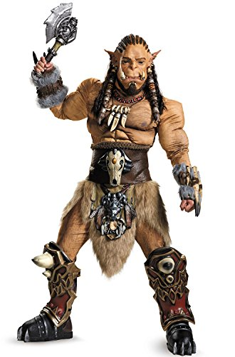 Disguise Men's Warcraft Durotan Prestige Costume, Multi, -