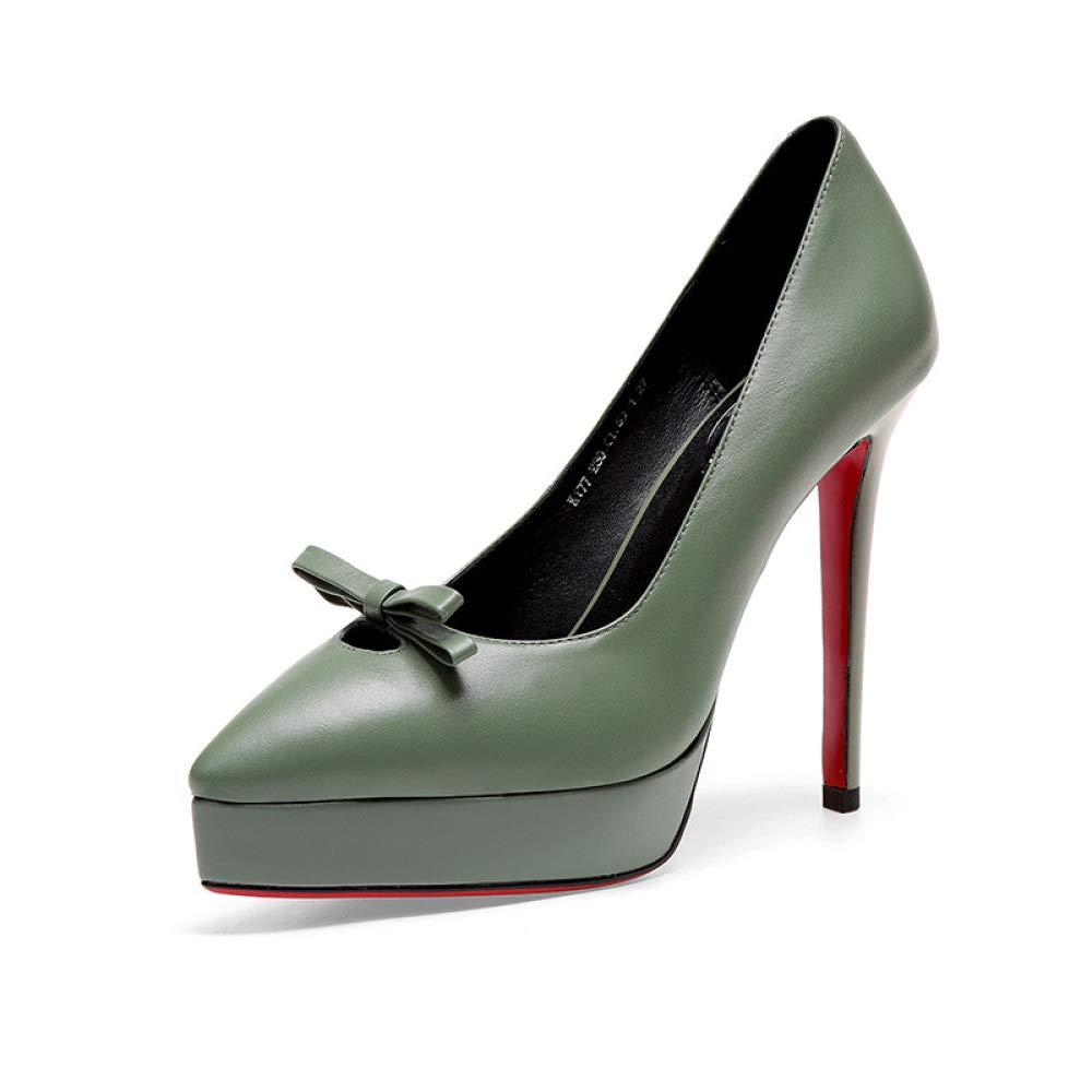 SHINIK La Mode Féminine A Souligné Les Talons Hauts Automne Hiver Cuir Plate-Forme Confortable Chaussures Bow Party Chaussures