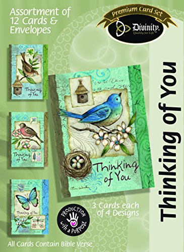 Card-Boxed-Thinking Of You-Blue Birds (Box Of - Card Gift Mall University