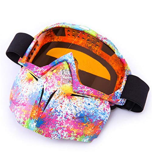 TSenTr Motorcycle Goggles with Detachable Face Mask Helmet