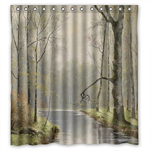 [NASAZONE Width X Height / 66 X 72 Inches / W H 168 By 180 Cm Beautiful Scenery Landscape Painting Bathroom Curtains Polyester Fabric Ornament And Gift To Teens Birthday Kids Couples] (Bike Lane Costume)