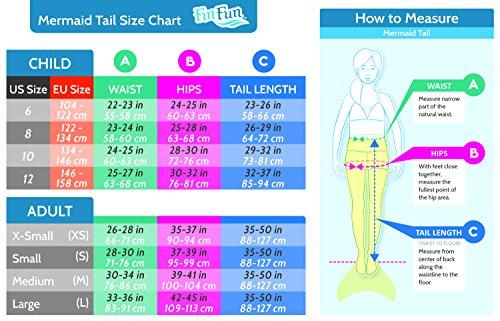 Fin Fun Mermaid Tail, Reinforced tips, Monofin, Maui Splash, Child 8 by Fin Fun (Image #6)