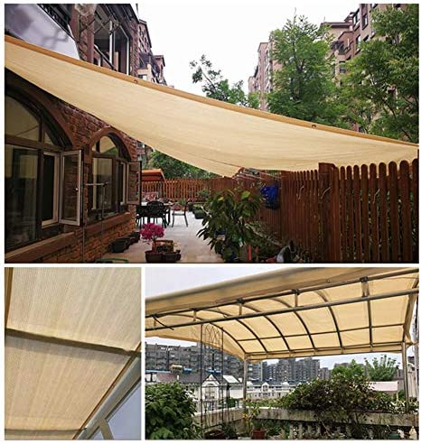 SUNDUXY Toldo Vela de Sombra Rectangular Toldos para Patio, HDPE Resistente Intemperie protección Rayos UV Perforaciones diseño (con Correa plástico Libre 500pcs),5x6m: Amazon.es: Hogar