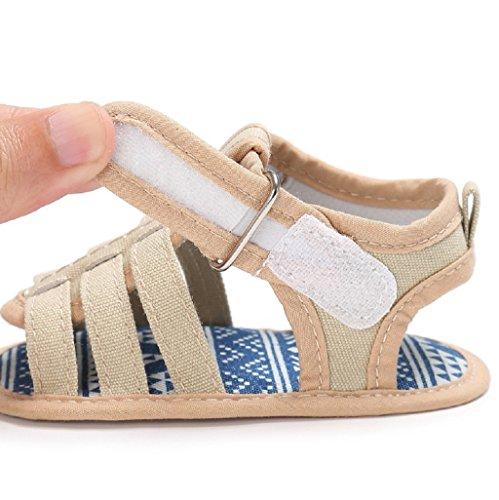 Por 3-18 Meses, Auxma Los niños de las muchachas de los muchachos de los bebés Scrub primeros caminantes calzan los zapatos Caqui