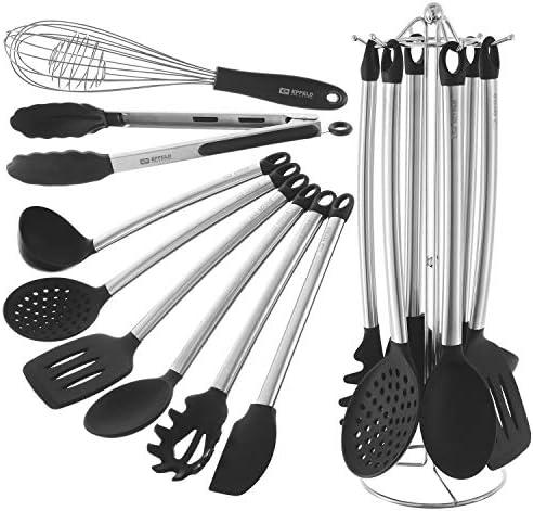 Kitchen Utensil Set Holder Non Stick