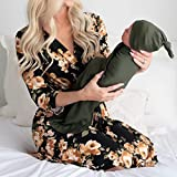 Little Adam and Eve Maternity Robe and Matching