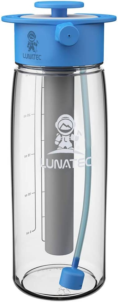 Lunatec Aquabot sport water bottle a pressurized mister camp shower and hyd...