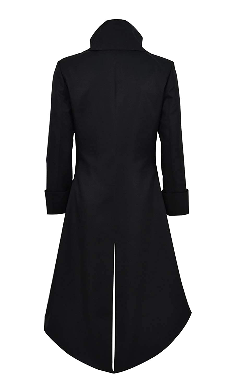 Qian Qian Herren Vintage Frack Jacke Gothic Steampunk Viktorianischen Mantel Karneval Vampir Kost/üm Smoking Jacke Uniform