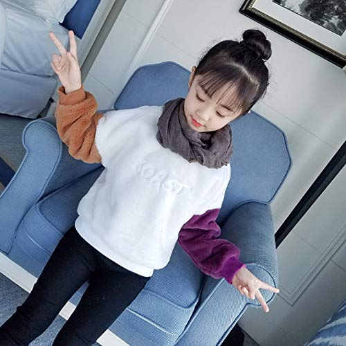 Childrens Clothing Korean New Girl Autumn Winter Thick Coast Hair Sweater Tide