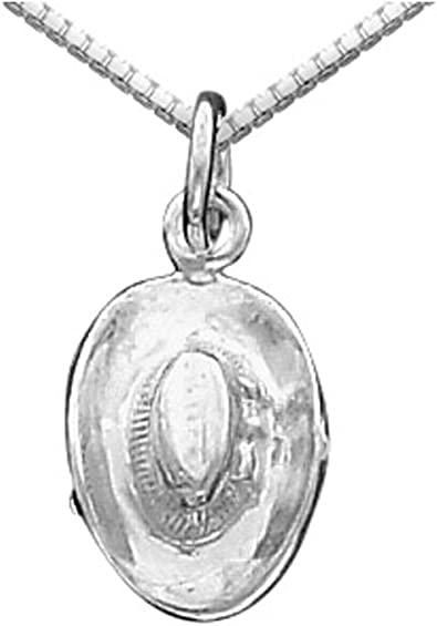 Sterling Silver Girls .8mm Box Chain Open Heart Slider Pendant Necklace