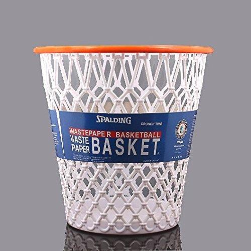 "Spalding Basketball Net ""Crunch Time"" NBA Design Spalding Wastebasket White One Size"