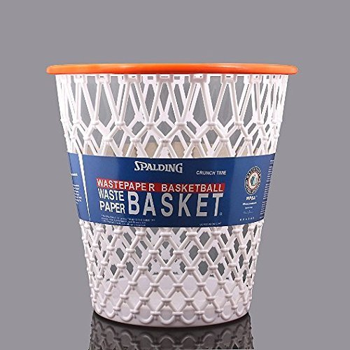 Spalding Basketball Net Crunch Time Nba Design Wastebasket White One Size