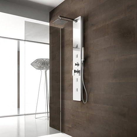 ⭐ weiss Stern ⭐ panel Columna de ducha Diamante ⭐ Cristal ...