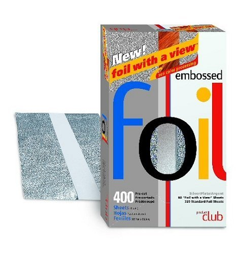 (Product Club 400 Count Embossed Pre Cut Foil 5 x 8 Silver # Ef400-Sl)