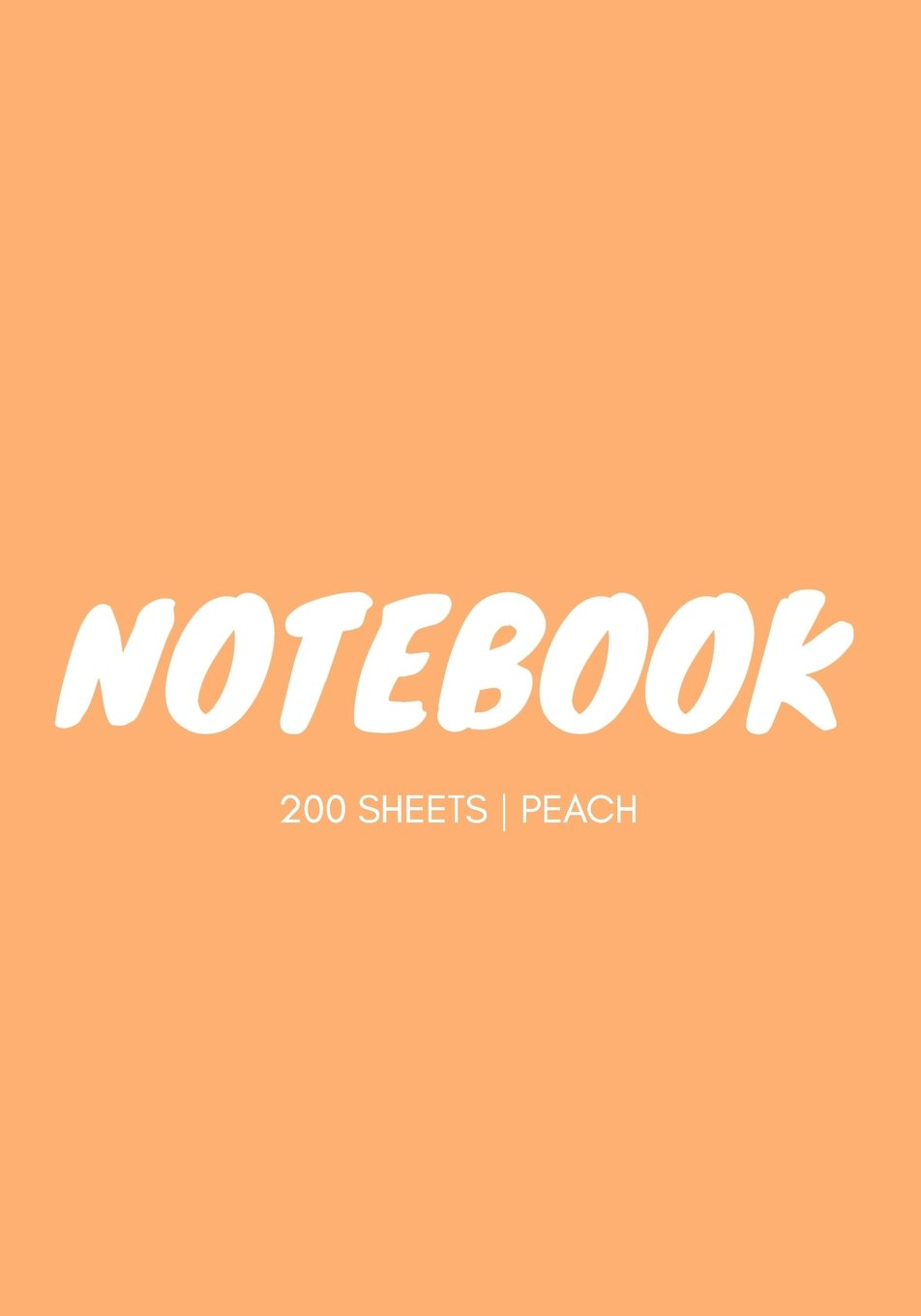 Notebook 200 Sheets: Peach: Notebook 7 x 10: Notebook 400 Pages ebook