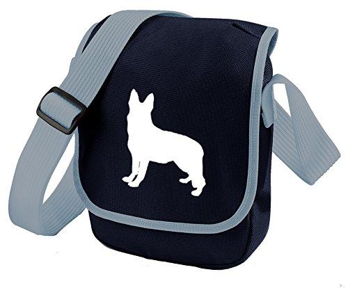 Shepherd German GSD Bag Colours Reporter Choice Dog Silhouette Bag Shoulder Bag Dog Bag White Blue German Shepherd of Alsation Gift Bag AdFwqrd