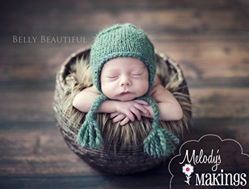 Hat Knitting Earflap Pattern - Cabled Earflap Hat Knitting Pattern - All Sizes from Newborn to Adult Woman Included