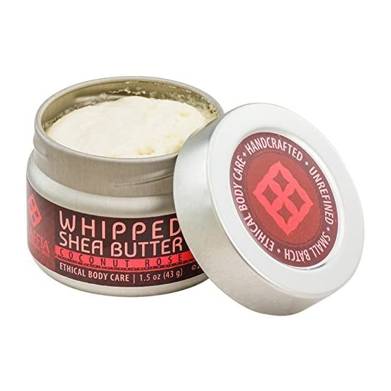 Alaffia - Whipped Shea Butter, 1.5 Ounces 4 100% FAIR TRADE: Feel good about how you are getting your products with 100% Certified Fair Trade Ingredients. PROTECT YOUR SKIN WITH A HANDCRAFTED FORMULA: Receive the full moisturizing and protective benefits of its unique fatty acid profile and Vitamins A and E with our traditionally handcrafted, unrefined shea butter. EVERYDAY FOR EVERYONE: Traditional formula suits all skin types.