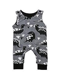 Annvivi Newborn Baby Girl Boy Clothes Dinosaurs Bodysuit Romper Playsuit Outfits