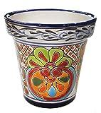 Tierra Fina Talavera Standard Pot – 6.25″ Diameter x 6.375″ High For Sale