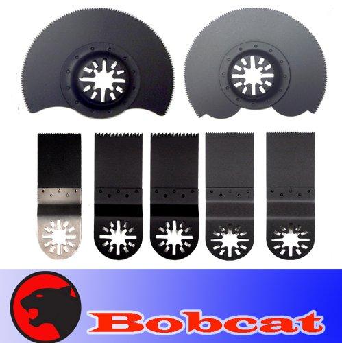 7 Combo BIM Nail Eater / Wood Segmented Wood Oscillating Multi Tool Saw Blade for Fein Multimaster Bosch Multi-x Craftsman Nextec Dremel Multi-max Ridgid Dremel Chicago Proformax Blades