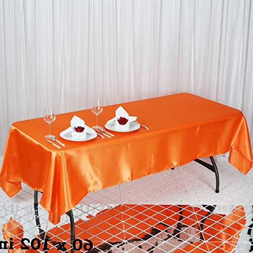Mikash Rectangular Satin Tablecloth Dinner Wedding Party Linens Decorations Wholesale | Model WDDNGDCRTN - 9140 | ()