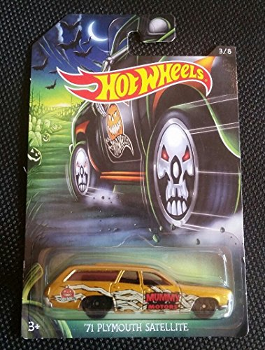 Hot Wheels 2017 Happy Halloween '71 Plymouth Satellite #3/8 Gold -