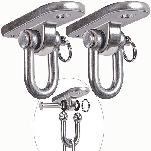 Why Should You Buy SELEWARE 2 Pieces 2000 lb Capacity Stainless Steel 180° Swing Hangers, Heavy Dut...